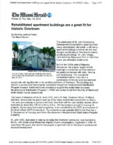 Rehabilitated apartment buildings are a great fit for historic Overtown